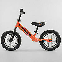 """Велобег Corso 68170 со стальной рамой, колеса 12"""", надувные колеса, оранжевый, фото 3"""