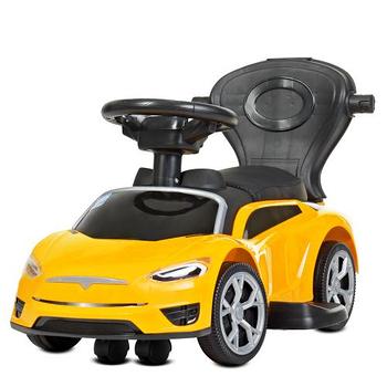 Каталка – толокар «Tesla» M 4318L-6 Желтый (с мотором и аккумулятором)