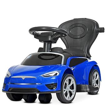 Каталка – толокар «Tesla» M 4318L-4 Синий (с мотором и аккумулятором)