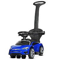 Каталка – толокар «Tesla» M 4318L-4 Синий (с мотором и аккумулятором), фото 4