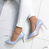 Туфли лодочки нежно-голубое 13689, фото 4