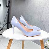 Туфли лодочки нежно-голубое 13689, фото 2