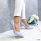 Туфли лодочки нежно-голубое 13689, фото 7