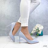 Туфли лодочки нежно-голубое 13689, фото 3