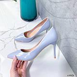 Туфли лодочки нежно-голубое 13689, фото 5