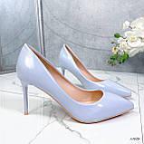 Туфли лодочки нежно-голубое 13689, фото 6