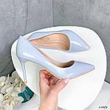 Туфли лодочки нежно-голубое 13689, фото 8
