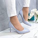 Туфли лодочки нежно-голубое 13689, фото 10