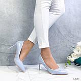 Туфли лодочки нежно-голубое 13689, фото 9