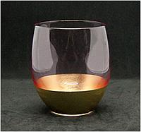 Большой стакан с золотым дном 500 мл стекло посуда для кафе, фото 1