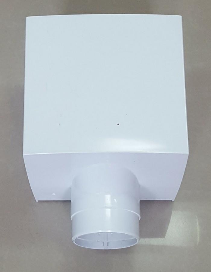 Водосточная воронка ф80 Белая для отвода воды с плоской кровли с парапетом