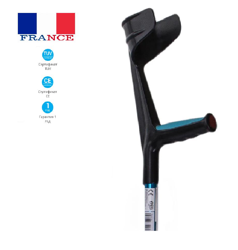 Костыли подлокотные для взрослых с мягкой ручкой OSD-86010 (костыль под локоть, милиці)