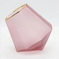 Стакан с золотым дном 500 мл с матовым розовым стеклом посуда для кафе