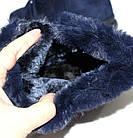 Женские зимние теплые кроссовки синего цвета, фото 7