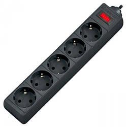 Мережевий фільтр 220v (5,0 м) Defender ES (5 розеток) Black