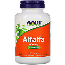"Люцерна NOW Foods ""Alfalfa"" 650 мг (250 таблеток)"