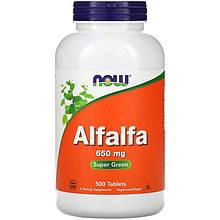 "Люцерна NOW Foods ""Alfalfa"" 650 мг (500 таблеток)"