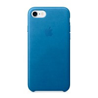 Кожаный чехол Apple Leather Case Sea Blue (MMY42) для iPhone 7 | 8 | SE 2020