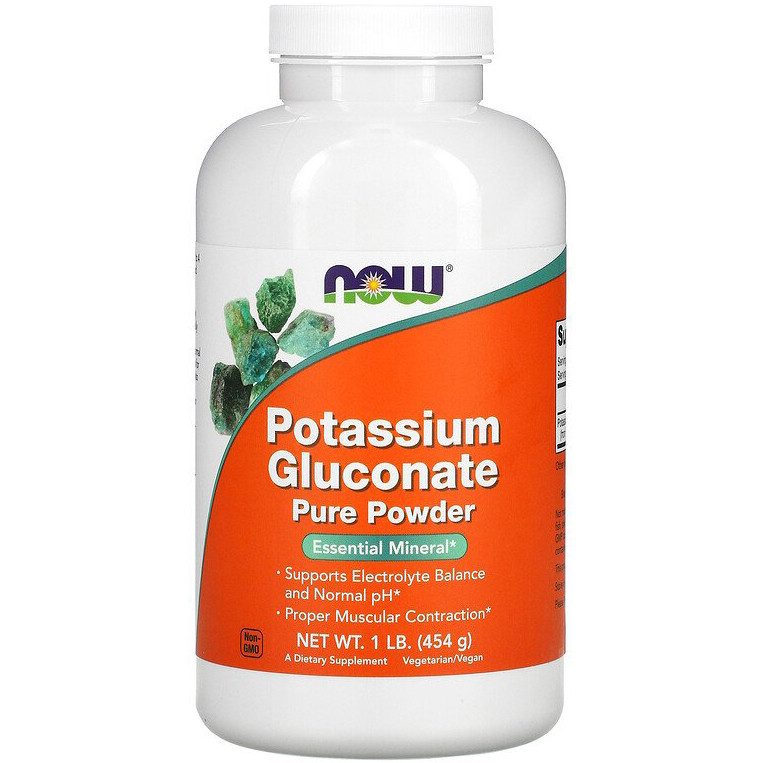 "Глюконат калия NOW Foods ""Potassium Gluconate Pure Powder"" чистый порошок (454 г)"