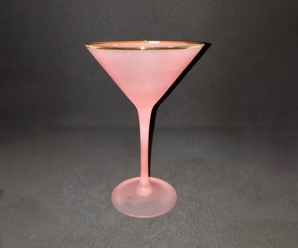 Бокал для коктейля маргарита 300мл розовый с золотой каймой