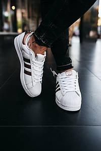 Кроссовки женские Adidas Wmns Superstar White Linen CQ0676 Адидас Суперстар Белые