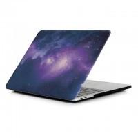"Пластиковый чехол oneLounge Soft Touch Matte Galaxy purple для MacBook Pro 15"" (2016-2019)"