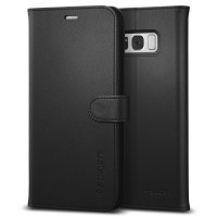 Чехол Spigen Wallet S Black для Samsung Galaxy S8 Plus