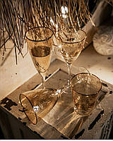 Бокал для шампанского из цветного стекла 250 мл посуда в кафе и дом