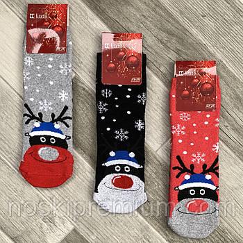 Новогодние носки женские махровые хлопок Классик, Черкассы, арт. 12В-52, размер 23-25, ассорти