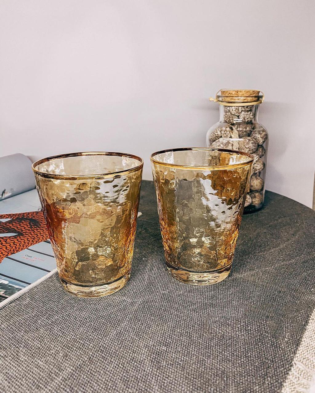 Стакан стеклянный золотого цвета 375мл для коктейлей