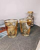 Стакан стеклянный золотого цвета 375мл для коктейлей, фото 1