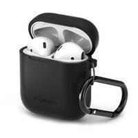 Силиконовый чехол с карабином Spigen Silicone Case Black для Apple AirPods, фото 2