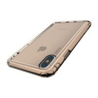 Чехол Baseus Safety Airbags Transparent Gold для iPhone XS Max