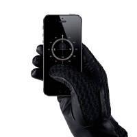 Сенсорные перчатки MUJJO Leather Crochet Touchscreen Gloves Medium (8.5), фото 2