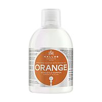 Зміцнюючий шампунь Kallos Orange для волосся з маслом апельсина 1000 мл