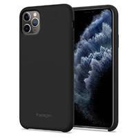 Черный силиконовый чехол для iPhone 11 Pro Spigen Silicone Fit, фото 2