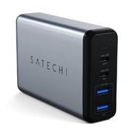 Быстрое зарядное устройство (сетевой адаптер) Satechi Dual Type-C PD Travel Charger 75W