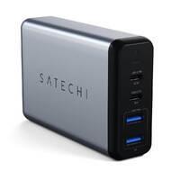 Быстрое зарядное устройство (сетевой адаптер) Satechi Dual Type-C PD Travel Charger 75W, фото 2