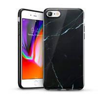 Силиконовый чехол для iPhone SE (2020) | 8 | 7 ESR Marble Slim Soft Black Sierra, фото 2