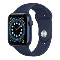 Смарт-часы Apple Watch Series 6 GPS, 44mm Blue Aluminum Case with Deep Navy Sport Band (M00J3)