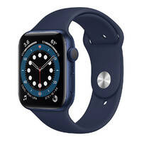 Смарт-часы Apple Watch Series 6 GPS, 44mm Blue Aluminum Case with Deep Navy Sport Band (M00J3), фото 2