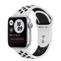 Смарт-часы Apple Watch Nike Series 6 GPS, 40mm Silver Aluminum Case with Pure Platinum   Black Nike Sport Band