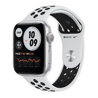 Смарт-часы Apple Watch Nike Series 6 GPS, 44mm Silver Aluminum Case with Pure Platinum   Black Nike Sport Band