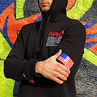 Мужская толстовка худи Nasa на флисе с капюшоном в Украине S M L XL