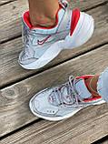 Женские кроссовки Nike M2K Tekno серого цвета (Кроссовки Найк М2К Текно серебристые), фото 2