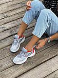 Женские кроссовки Nike M2K Tekno серого цвета (Кроссовки Найк М2К Текно серебристые), фото 3