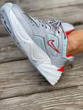 Женские кроссовки Nike M2K Tekno серого цвета (Кроссовки Найк М2К Текно серебристые), фото 4