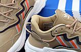 Женские кроссовки Adidas Ozweego бежевые, фото 6