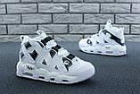 Мужские высокие кроссовки Air More Uptempo черно-белые, фото 4
