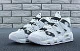 Мужские высокие кроссовки Air More Uptempo черно-белые, фото 5